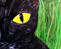 Katze im Gras by Kirsten Aust