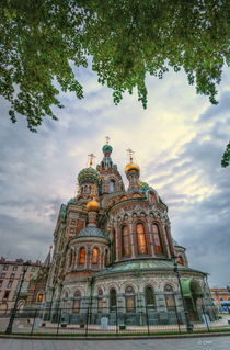 Dusk over church of the Savior on Spilled Blood by Chris R. Hasenbichler