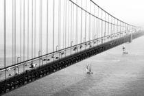 Golden Gate Bridge with Boats by Felix Pütsch
