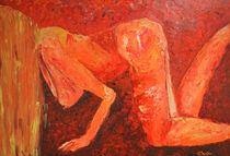 """Acrylbild 60x80 """"Die rote Wiese"""" von Silvia Kafka"""