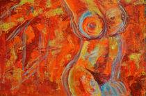 "Acrylbild 60x90 ""Feuertanz"" by Silvia Kafka"