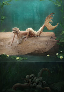 A mermaid's mournful serenade von Ana Cruz