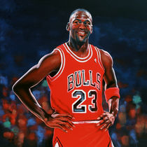 Michael Jordan painting by Paul Meijering