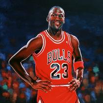Michael Jordan painting von Paul Meijering
