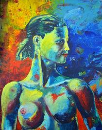 """Ölbild 80x100 """"Wachsam"""" von Silvia Kafka"""