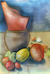Orange napkin by Christina Rahm