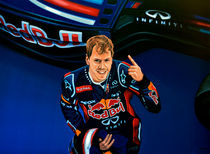 Sebastian Vettel painting by Paul Meijering