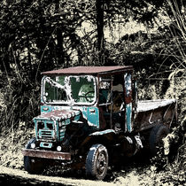 blue truck by ricopic