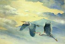 Herons in Flight by Susan Bull Riley