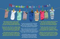 Nie wieder Single - Socken by Nicola Turnbull