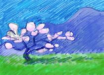 Blossoming almond tree by Christina Rahm