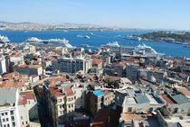 Blick vom Galata-Turm in Istanbul von loewenherz-artwork