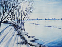 Winter an der Elbe von Isabell Tausche