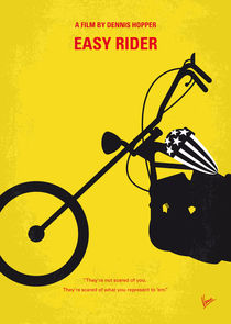 No333 My EASY RIDER minimal movie poster von chungkong