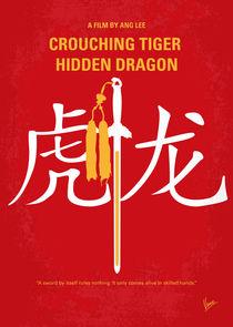 No334 My Crouching Tiger Hidden Dragon minimal movie poster by chungkong