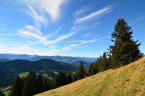 Allgäu - Blick in den Bregenzerwald und die Schweizer Berge von Mark Gassner