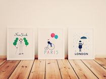 Cool retro signs pictures posters art cartoons vintage paris london new york nyc by Kirsty Lee
