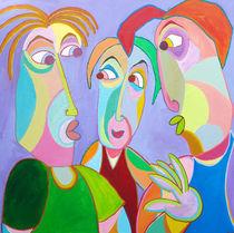 Gemälde Freunden Gespräch  - Painting Friends talk von Twan de Vos