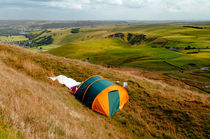 Tent Pitched Near Summit of Mam Tor von Rod Johnson