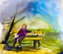 Auf einer bank by Maria-Anna  Ziehr