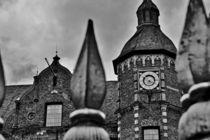 Rathaus Düsseldorf schwarz-weiss von leddermann