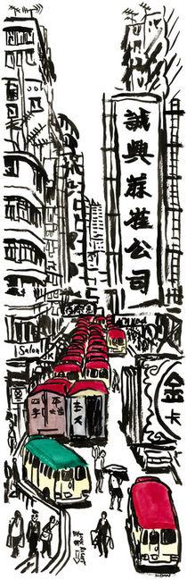 Lunchtime on Tung Choi Street, Mong Kok, Hong Kong. von Michael Sloan