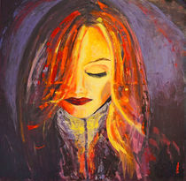 """Acrylbild 90x90 """"Ein Licht"""" von Silvia Kafka"""