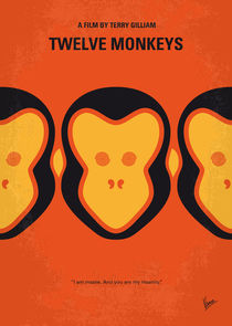 No355 My 12 MONKEYS minimal movie poster von chungkong