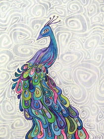 Groovy Peacock by Jo Claire Hall