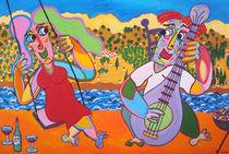 Painting Swing Serenade - Gemälde Schaukel Serenade von Twan de Vos