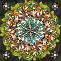 Mandala Metallic Ornament von Peter  Awax