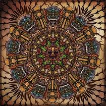 Mandala Tribal Masks by Peter  Awax
