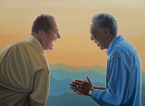 Jack Nicholson and Morgan Freeman painting by Paul Meijering