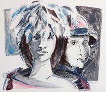 Zwei Frauen mit Hut von Heike Jäschke
