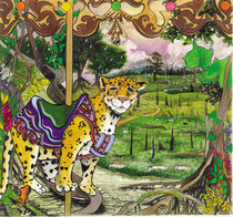 Leopard in Carousel Series von Julie Ann  Stricklin