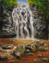 Waterfall Oil Painting von Mark Malinowski