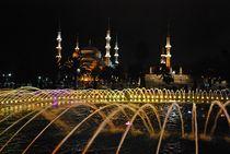 Springbrunnen vor der Blauen Moschee von loewenherz-artwork