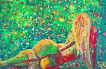 """""""Blütenzauber"""" 60x90 Acrylbild  von Silvia Kafka"""