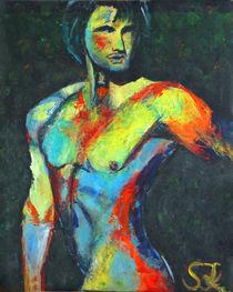 """""""Der Krieger"""" Acrylbild 40x50 von Silvia Kafka"""