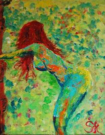Wiesenblick 40 x 50 Acrylbild von Silvia Kafka