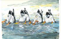 Upside-down Ducks von Robin (Rob) Pelton