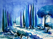 Impression in Blau by Inez Eckenbach-Henning