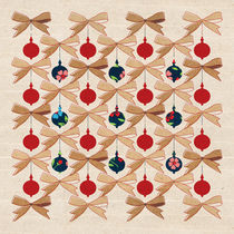 Christmas Ornaments and Bows Pattern