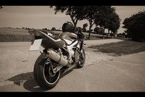 Yamaha R6 in Schwarz & Weiß / Sepia von Pascal Betke