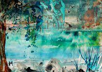 Weide am See von megina-art