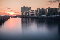 Sunset Hafen City Hamburg von Pascal Betke