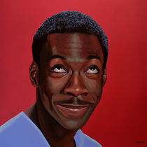 Eddie Murphy painting by Paul Meijering