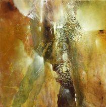 Abstrakte Komposition in grün und braun von Annette Schmucker