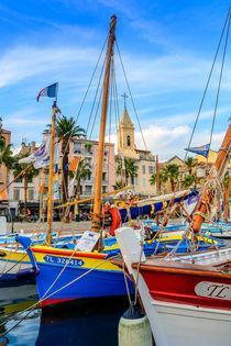 Traditional boats in port of Sanary-sur-Mer , Var, France von 7horses