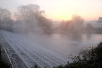 misty sunrise on the river by mark severn